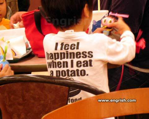 engrish shirt potato