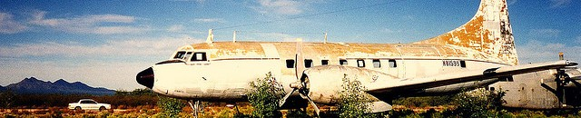 """Convair 240 in Arizona Boneyard"" by Phillip C"