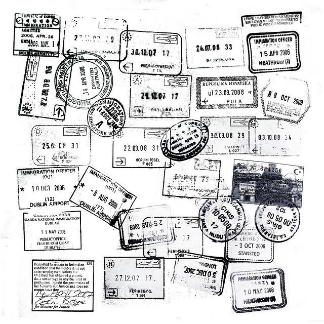 Passport Stamps by Mondayne