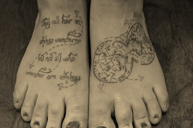 6 MORE of the Best Travel-Themed Tattoos | Taken by the Wind