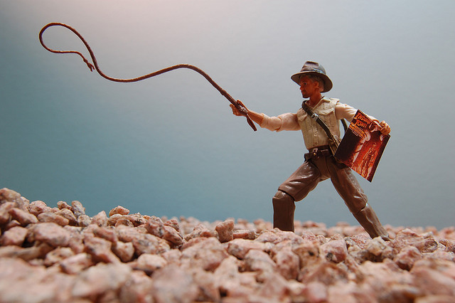 indiana jones toy with toy whip