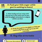 how to be an annoying airplane seatmate infographic