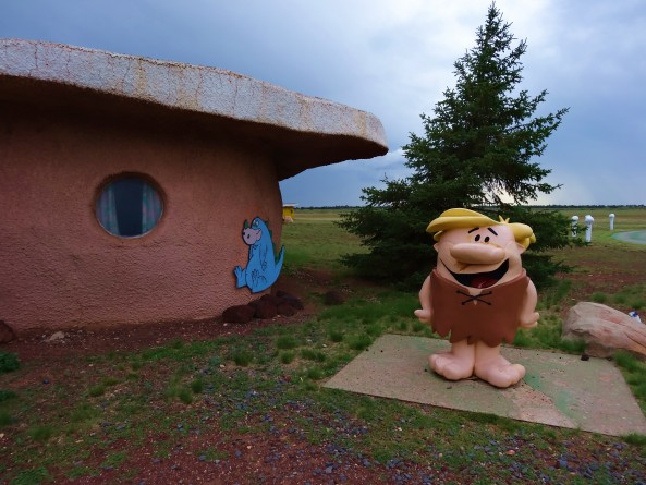 barney rubble at bedrock city in arizona