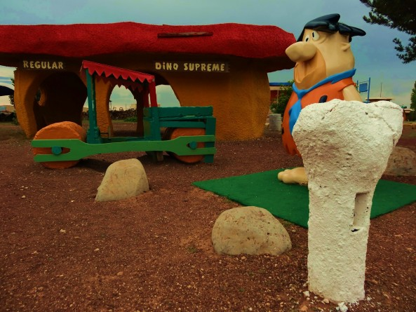 fred flinestone house at bedrock city in arizona