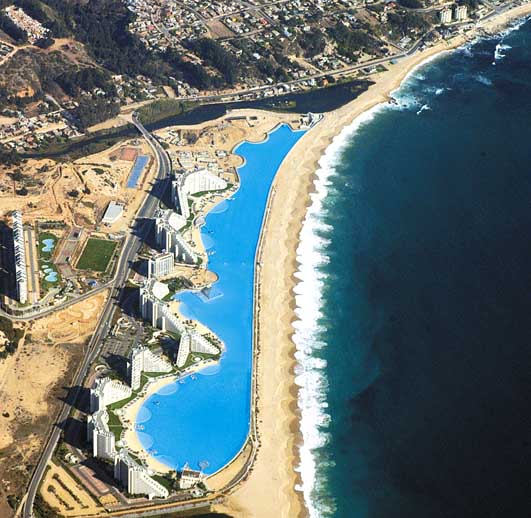 biggest pool in the world in chile