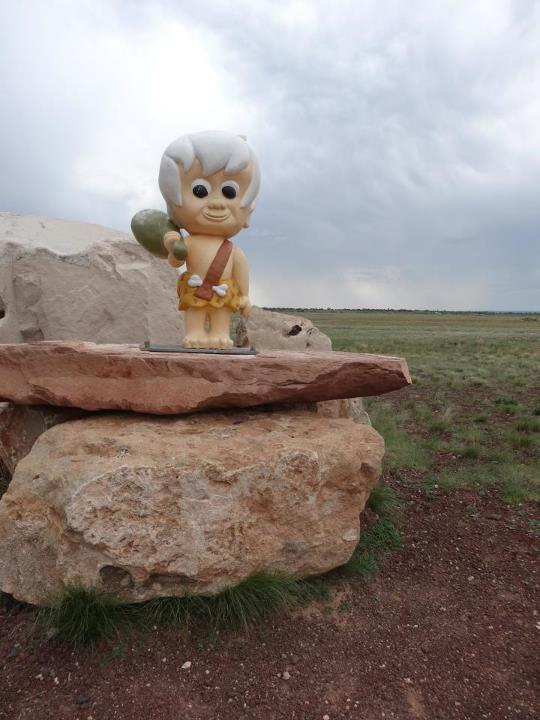 bam bam figure at bedrock city in arizona