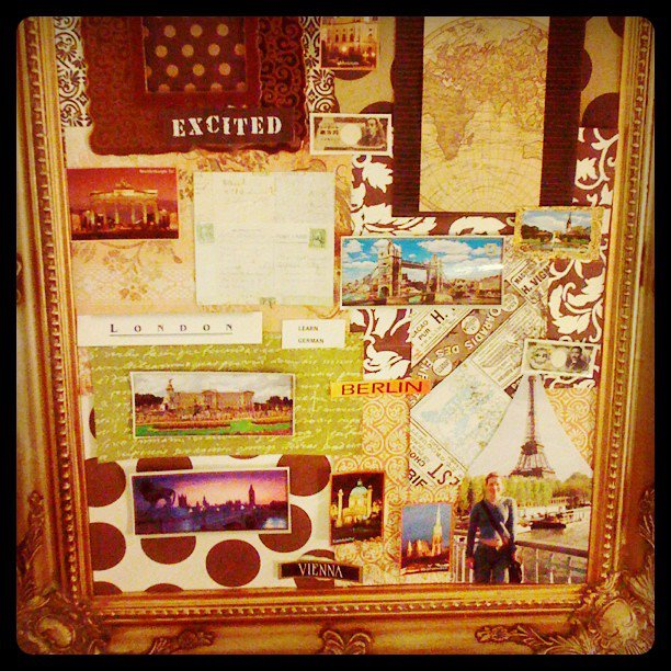 Decorating ideas for travel addicts travel themed collage taken making the collage postcard art solutioingenieria Image collections