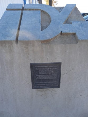 closeup shot of time capsule near Area 51