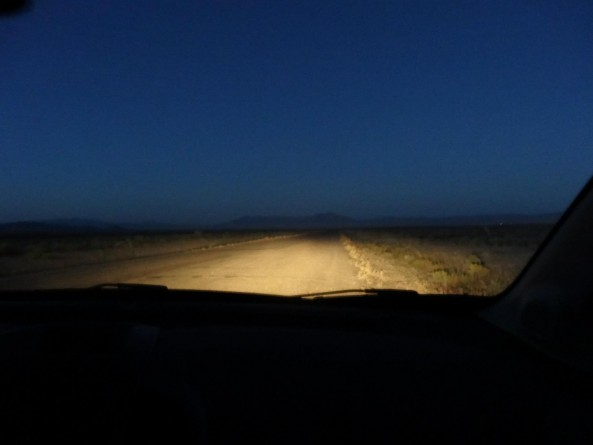 alien hunting in the nevada desert. View from the car.