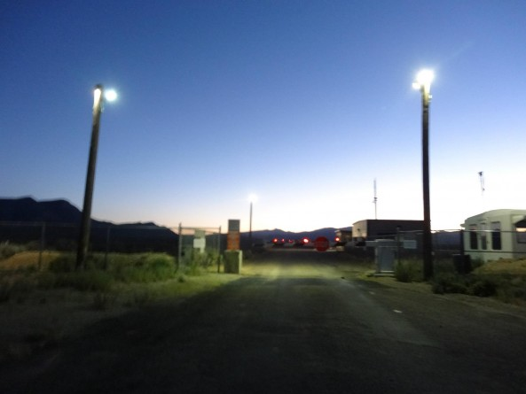 Area 51 gate near Rachel, Nevada
