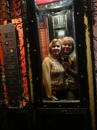 reannon and mom in elevator in buenos aires argentina