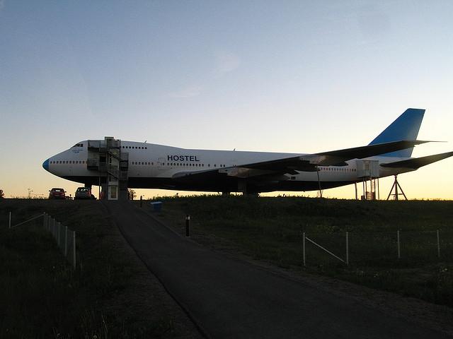 airplane hotel sweden