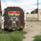 bob marley bus parked in downtown Las Vegas