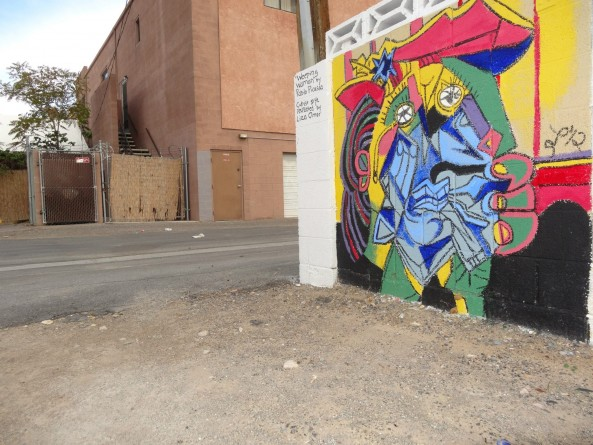 Graffiti art on a wall in Las Vegas