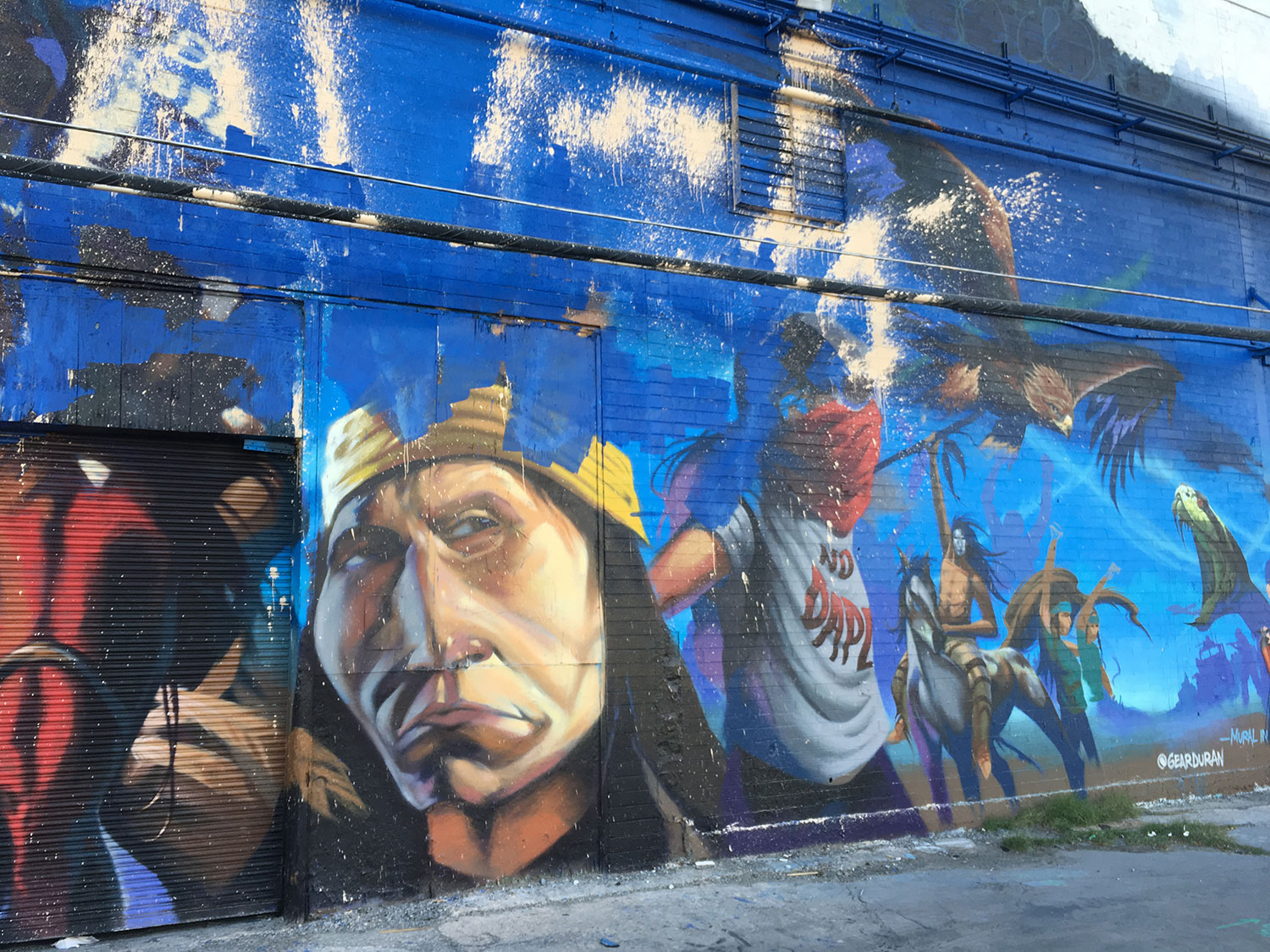 Mural art on main street in Las Vegas
