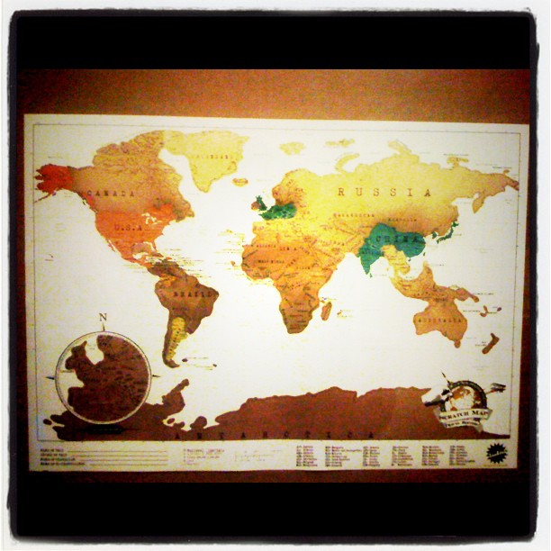 Decorating Ideas for Travel Addicts Scratch Map Art – Scratch Travel Map Of The World