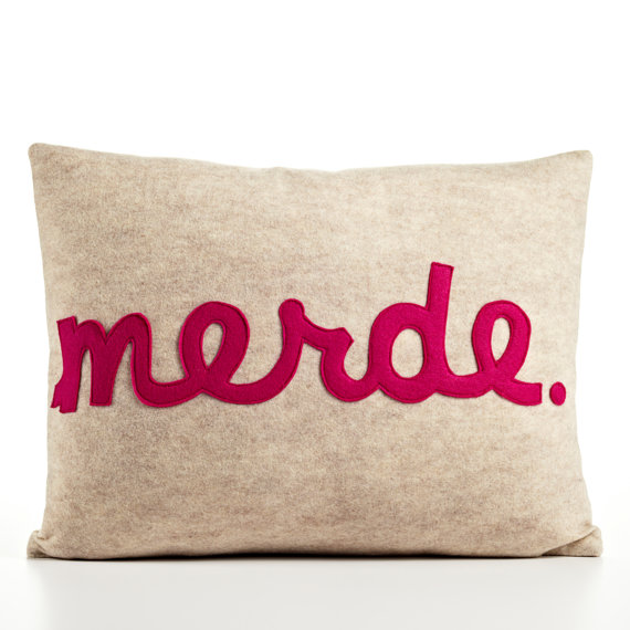 French language pillow