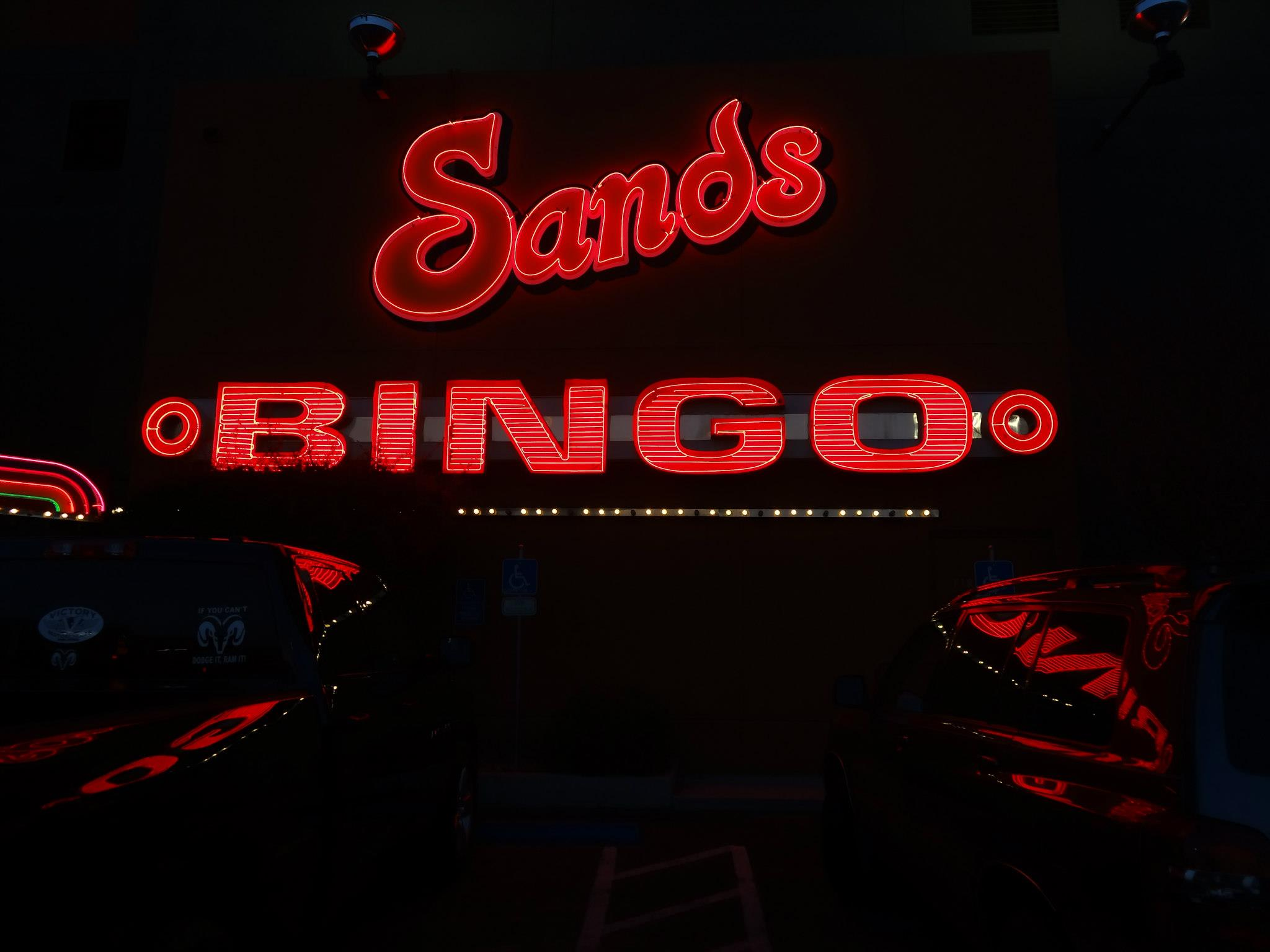 Sands casino neon sign