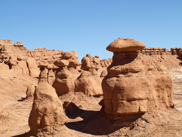 boulders at Goblin Valley in Utah