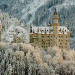 fairytale castle in Germany in winter