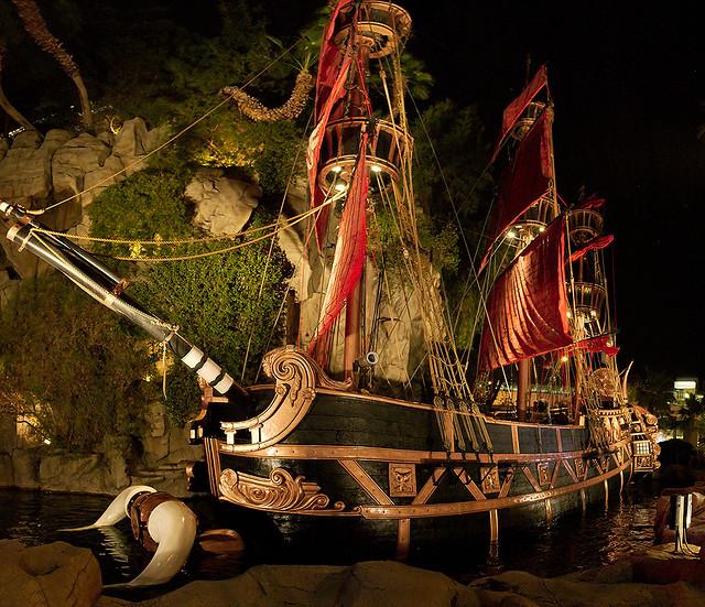 Treasure Island pirate ship