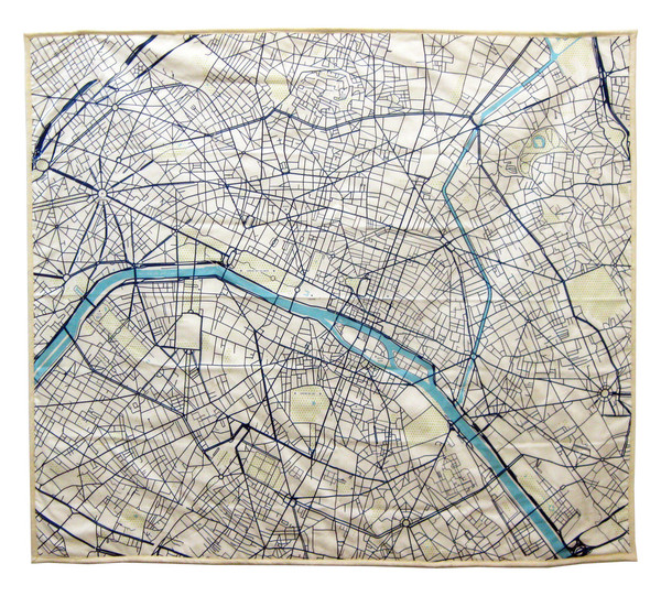 Paris map baby blanket
