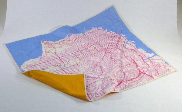 San Francisco map baby blanket