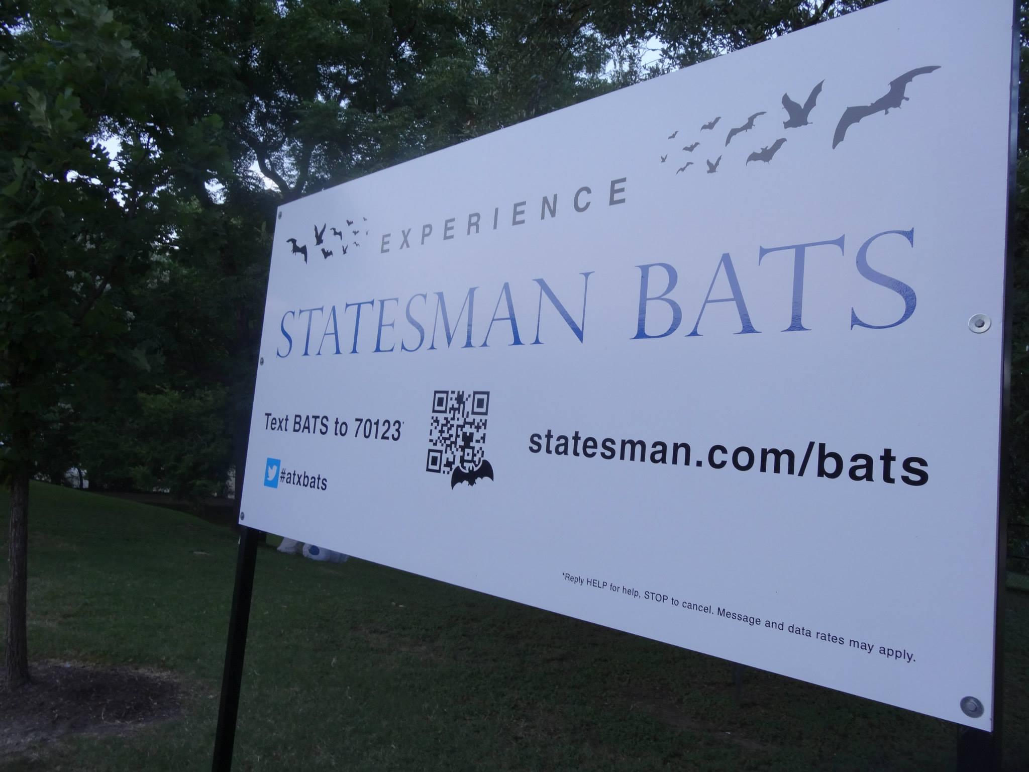 Statesman bat experience sign