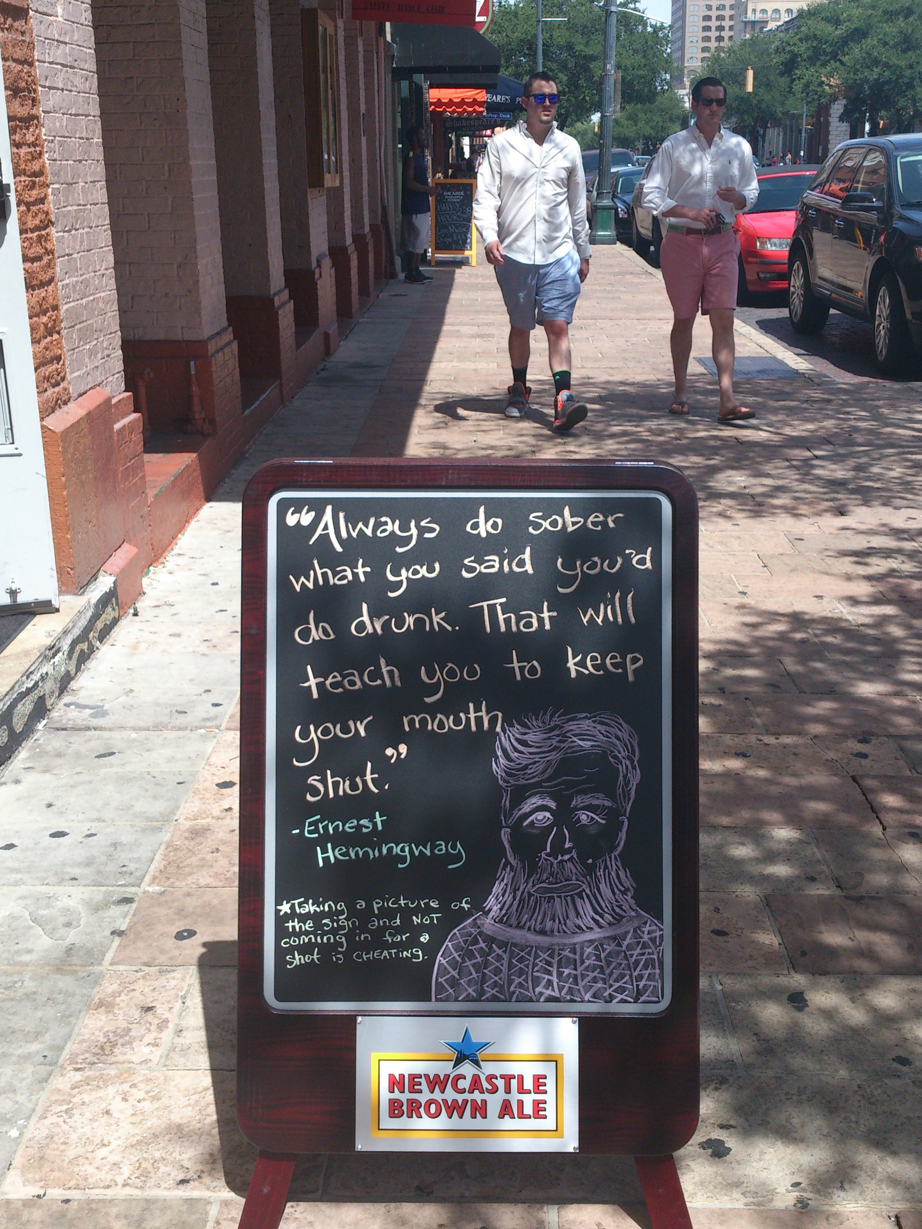 funny sign on Sixth street in Austin