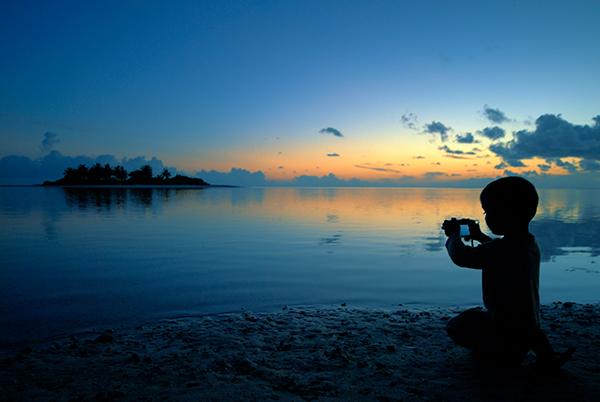 traveler sunset