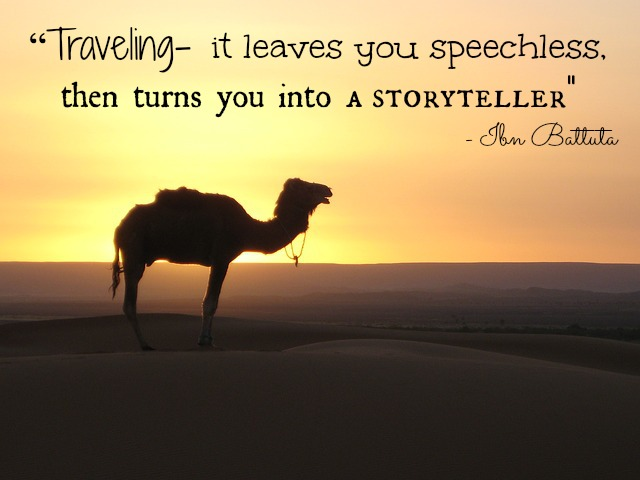 travel writing quote