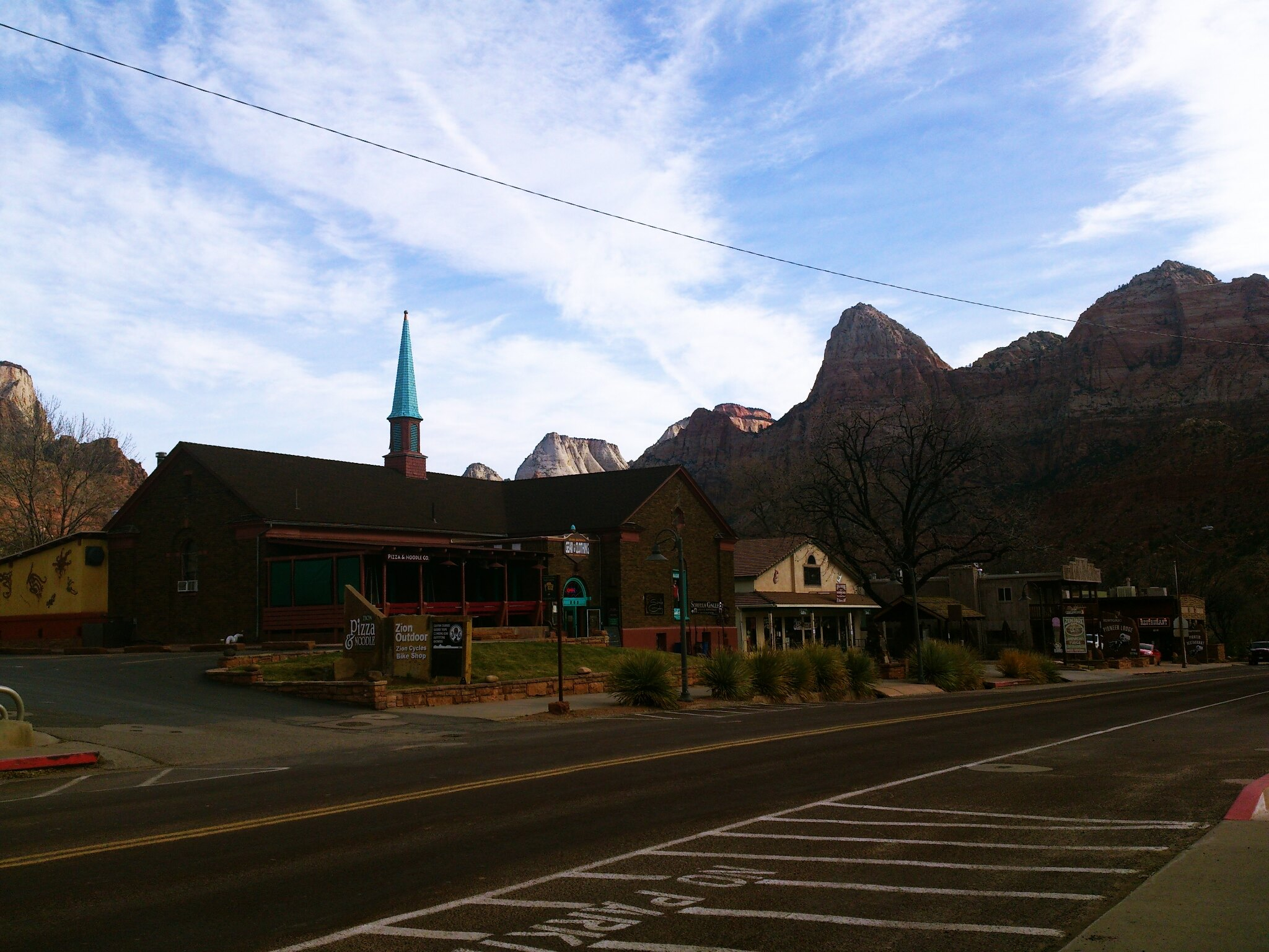 church and village of Springdale Utah