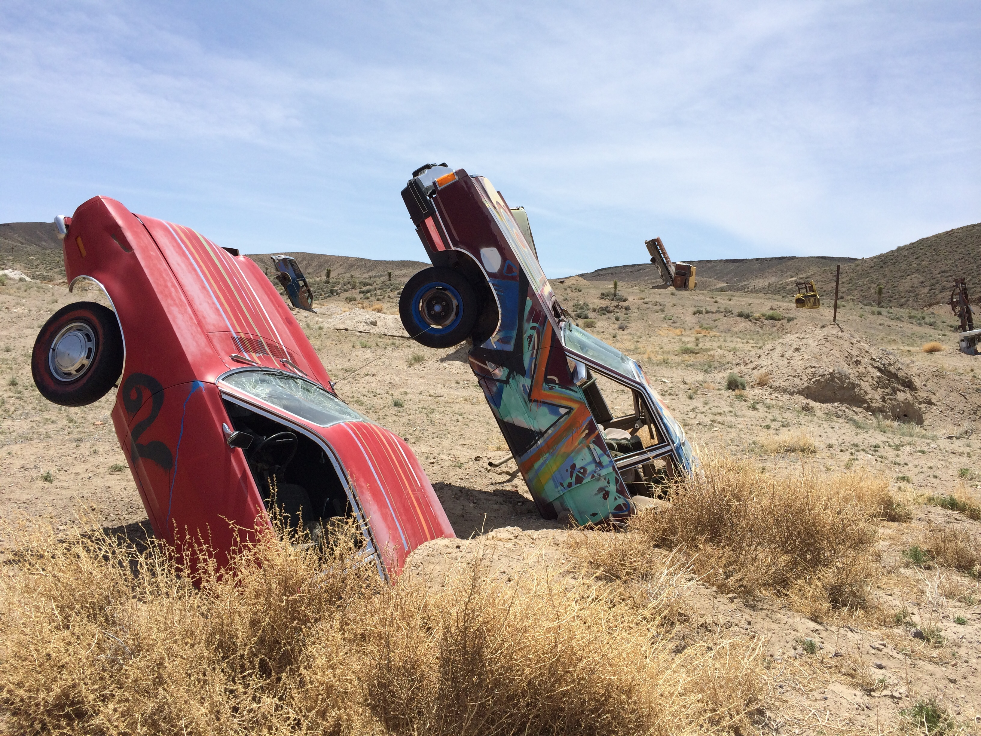 40 Cars 6 Friends And 1 Fun Road Trip My Adventure At A Car Forest In Goldfield Nevada Taken By The Wind