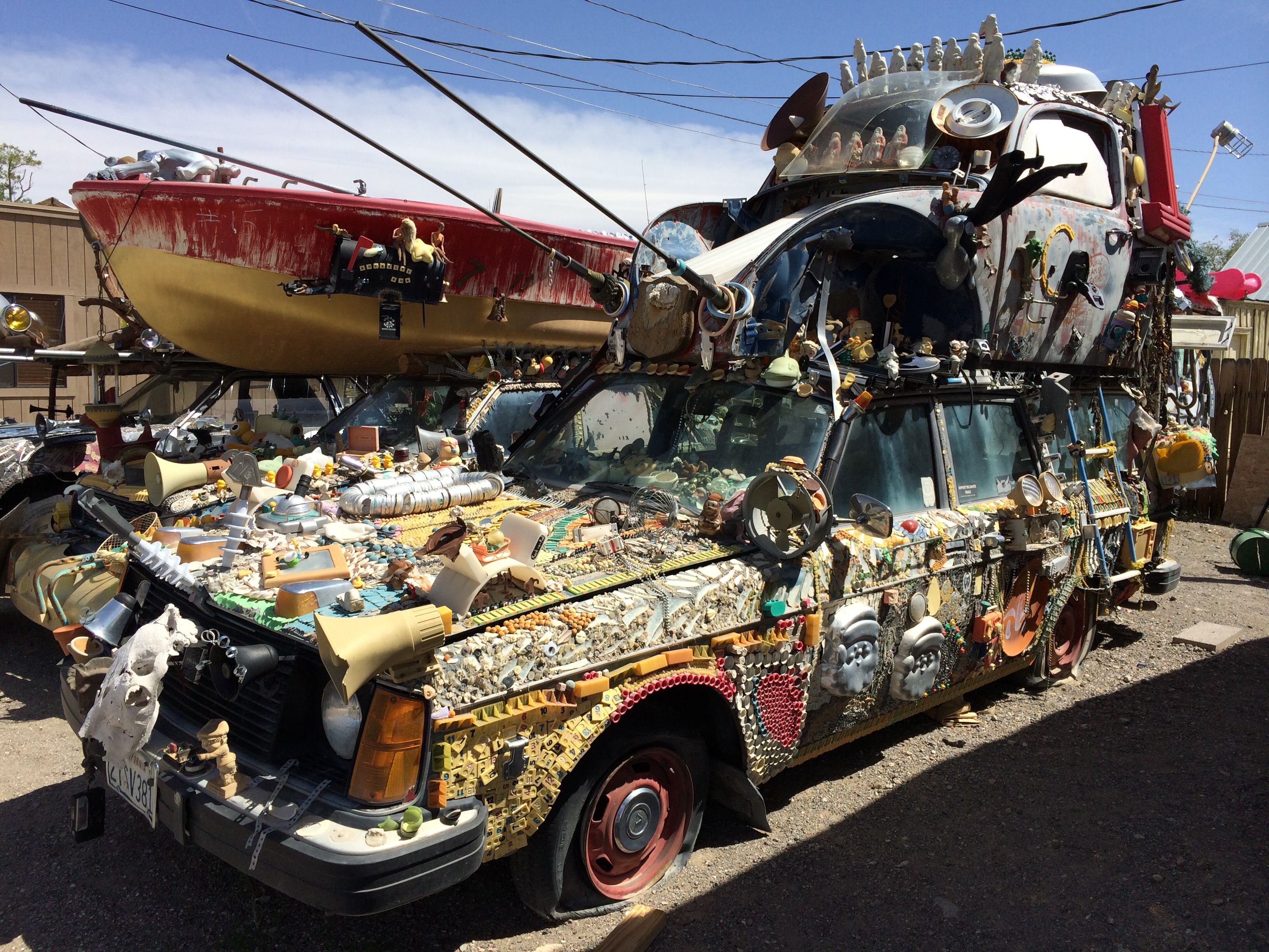 weird car art