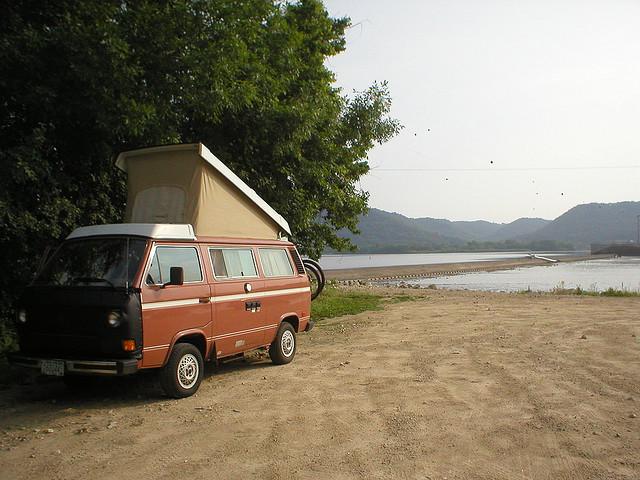 1980s VW camper van