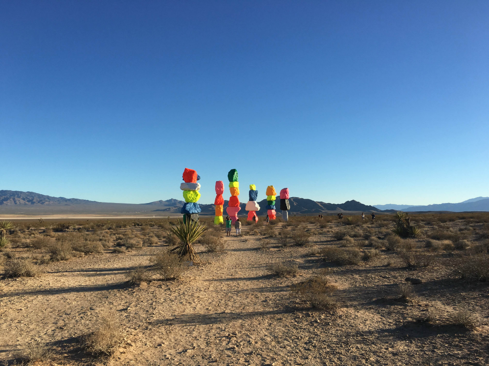 Walking towards Seven Magic Mountains