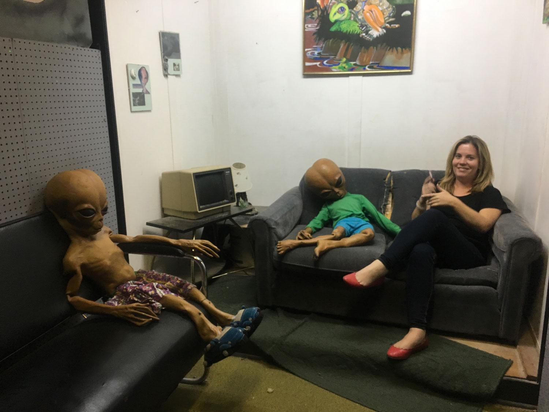 Alien Zone in Roswell Living Room Scene