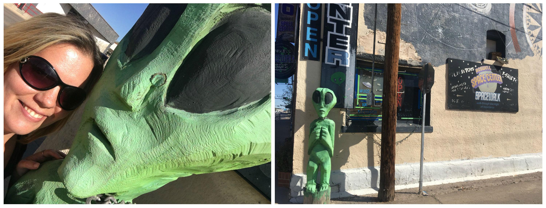 alien statues in Roswell